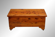 SOLD Vintage Natural Cedar Chest by Burrowes