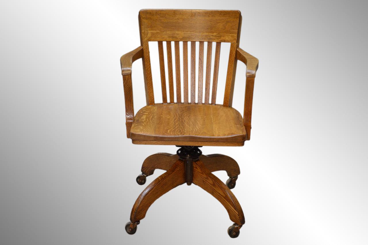 Sold Vintage Oak Lawyers Office Desk Chair Maine Antique Furniture