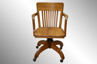 SOLD Vintage Oak Lawyers Office Desk Chair