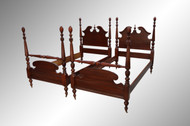 SOLD Pair of Mahogany Pineapple Poster Twin Beds