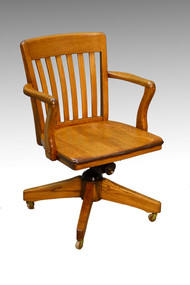 SOLD Oak Lawyers Office Desk Chair