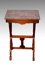 SOLD Antique Victorian Marble Top End Table