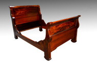 SOLD  Vintage Mahogany Empire Sleigh Bed