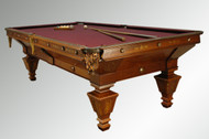 SOLD Antique Victorian Rosewood and Walnut Brunswick Billiard Pool Table-1890's *REDUCED PRICE*