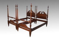 SOLD Antique Pair of Mahogany Twin Poster Beds
