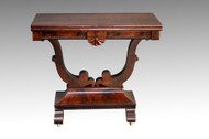 SOLD Antique Period Flame Mahogany Civil War Era Empire Game Table