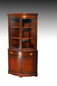 SOLD Vintage Mahogany Duncan Phyfe Corner China Cabinet Closet