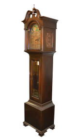 SOLD Antique Mahogany Grandfather Clock - Westminster Chimes