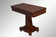 SOLD Antique Mahogany Civil War Era Empire Game Table
