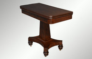 SOLD Antique Mahogany Empire Civil War Era Card Game Table