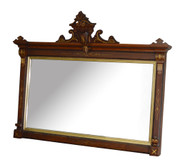 SOLD Antique Victorian Eastlake Incise Carved Over the Mantle Mirror