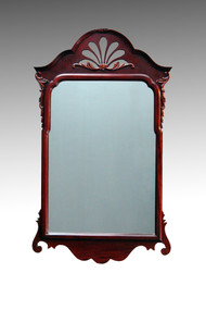 SOLD Mahogany Chippendale Carved Wall Mirror