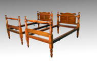 SOLD Antique Pair of early Primitive Country Twin Beds - Outstanding