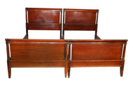 SOLD Vintage Pair of Mahogany Duncan Phyfe Twin Size Beds