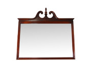 SOLD Vintage Large Mahogany Chippendale Wall Mirror