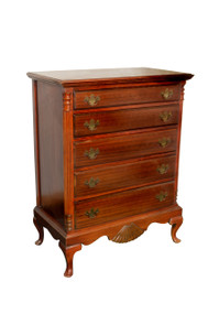 SOLD Vintage Mahogany Chippendale Tall Chest **REDUCED PRICE**