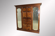 SOLD Antique Burl Walnut Exceptional Wardrobe