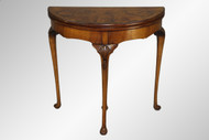 SOLD Antique Burl Walnut Chippendale Game Table
