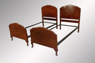 SOLD Antique Pair of Twin Chippendale Beds
