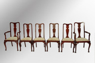 SOLD Antique Set of Six Queen Anne Dining Room Chairs