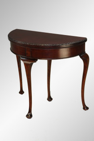SOLD Antique Mahogany Chippendale Carved Game Card Table