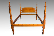 SOLD Antique Tiger Maple Poster Bed