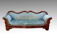 SOLD Antique Period Civil War Era Mahogany Empire Sofa