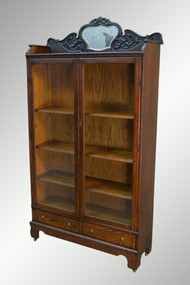 SOLD Antique Oak Larkin Bookcase with Beveled Mirror