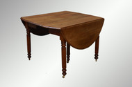SOLD Antique Country Walnut Dining Room Table - Civil War Era *REDUCED PRICE*