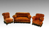 SOLD Antique Three Piece Victorian Gold Living Room Parlor Set Suite *REDUCED PRICE*