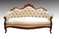 SOLD Antique Victorian Rose Carved Walnut Civil War Era Sofa