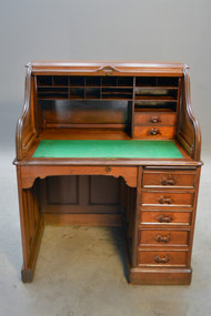 SOLD Antique Victorian Ladies Roll Top Desk - Civil War Era * REDUCED PRICE *