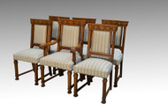 SOLD Set of 6 Oak Victorian Claw Foot Dining Chairs - Horner Quality *REDUCED PRICE*