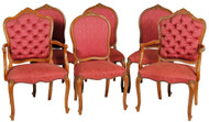 SOLD Set of 6 French Victorian Style Dining Chairs - Twin Arms!