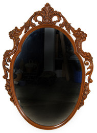 SOLD French Style Carved Wall Mirror
