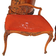 SOLD French Victorian Carved Cabriole Leg Vanity Bench