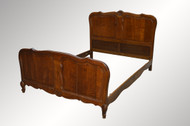 SOLD Carved Oak Raised Panel French Bed