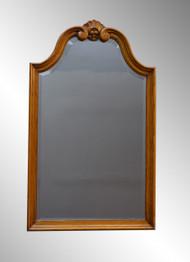 SOLD Oak Victorian Bevel Glass wall Mirror