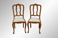 SOLD Pair of French Oak Carved Side Chairs