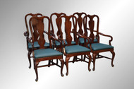SOLD Set of 6 Dining Room Arm Chairs – fit under table top skirts!