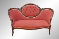 SOLD Antique Victorian Cameo Back Carved Civil War Era Sofa