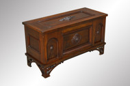SOLD Antique Victorian Walnut Custom Blanket Box