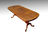 SOLD Burl Walnut Carved Hallway Table – Dining Table