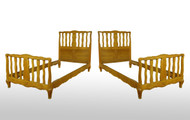 SOLD Pair of Twin Cherry Chippendale Style Beds