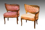 SOLD Pair of French Style Boudoir Chairs