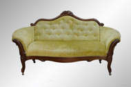 SOLD Antique Victorian Civil War Era Carved Sofa