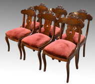 SOLD Antique Set of 6 Period Empire Civil War Era Dining Chairs