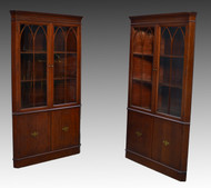 SOLD Pair of Mahogany Formal Duncan Phyfe Corner Cabinets – Best Buy