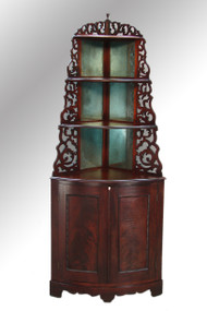 SOLD Antique Victorian Curio Corner Whatnot