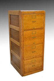 SOLD Oak Legal Size File Cabinet by Library Bureau